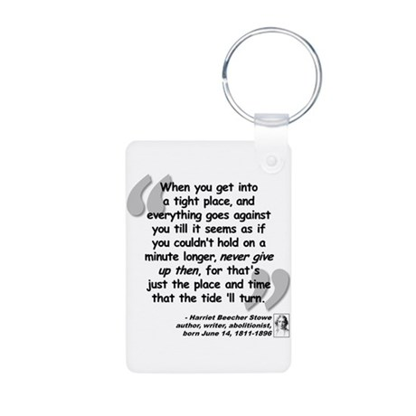 Stowe Never Quote Aluminum Photo Keychain