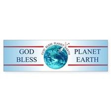 God Bless Planet Earth Bumper Bumper Sticker
