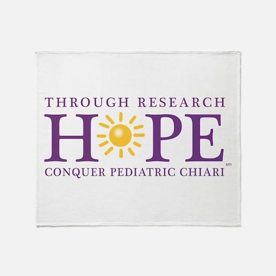 Conquer Pediatric Chiari Throw Blanket