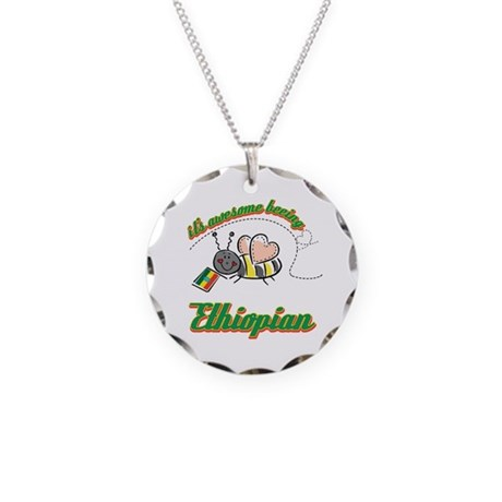 Awesome Being Ethiopian Necklace Circle Charm