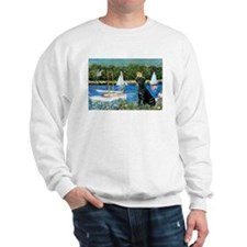 Monet's Sailboats & Black Labrador Sweatshirt