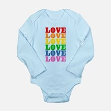 Rainbow Love Long Sleeve Infant Bodysuit