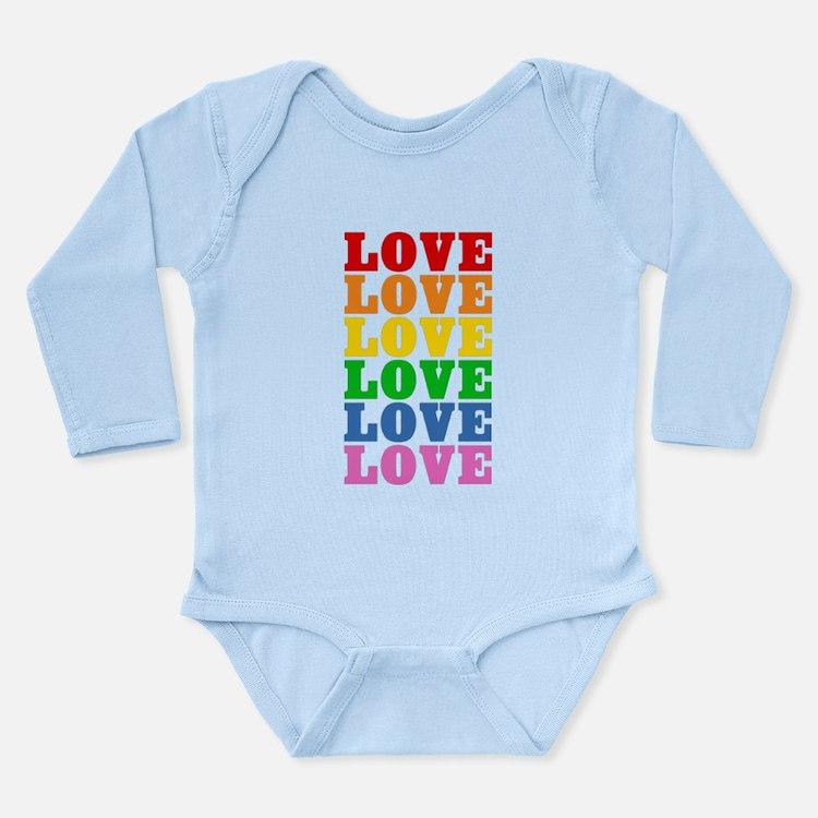 Rainbow Love Long Sleeve Infant Bodysuit