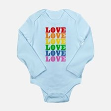 Rainbow Love Onesie Romper Suit