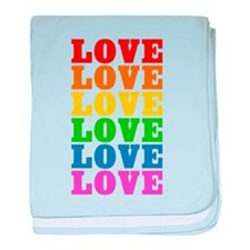 Rainbow Love baby blanket
