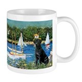 Black labrador Small Mugs (11 oz)