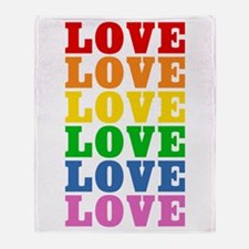 Rainbow Love Throw Blanket