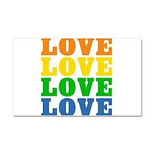 Rainbow Love Car Magnet 12 x 20