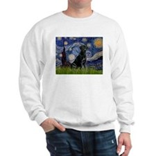 Starry Night Black Lab Sweatshirt