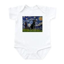 Starry Night Black Lab Infant Bodysuit