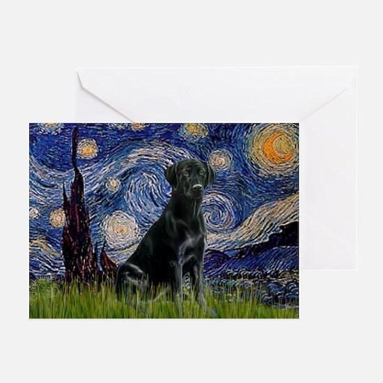 Starry Night Black Lab Greeting Cards (Pk of 10)