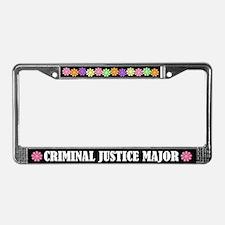 Criminal Justice Major License Frame