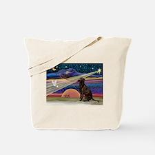 Xmas Star Chocolate Lab Tote Bag