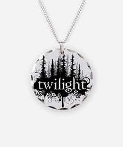 Cute Twilightforever Necklace Circle Charm
