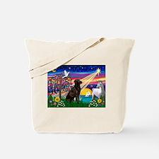 Chocolate Lab Magical Night Tote Bag