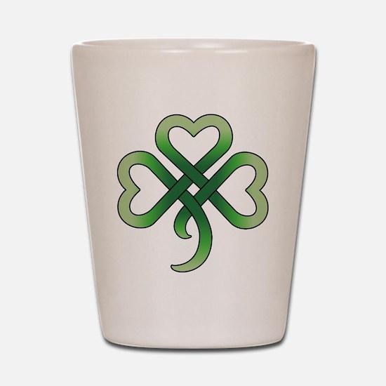Celtic Clover Shot Glass