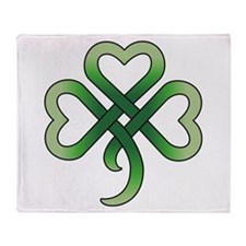 Celtic Clover Throw Blanket