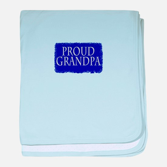 Proud Grandpa baby blanket
