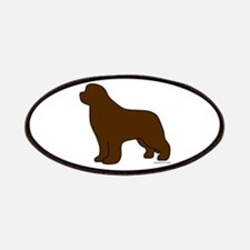 Brown Newfoundland Silhouette Patches