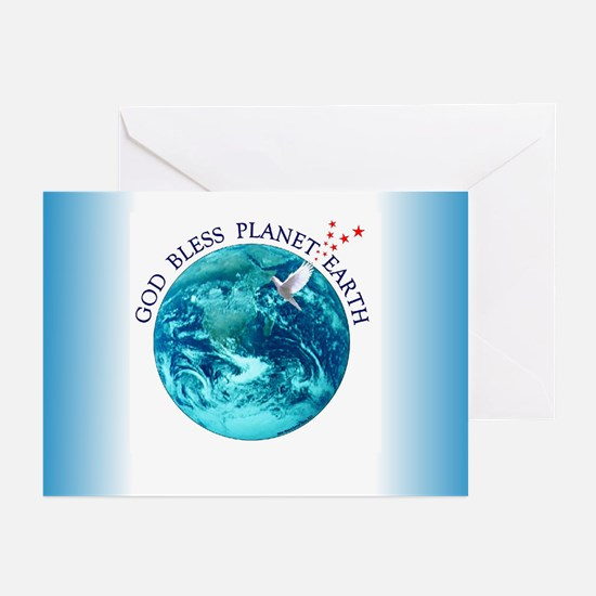 God Bless Planet Earth Greeting Cards (Package of