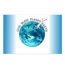 God Bless Planet Earth Postcards (Package of 8)