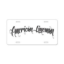 Lineman Aluminum License Plate