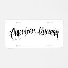 Lineman Aluminum License Plate