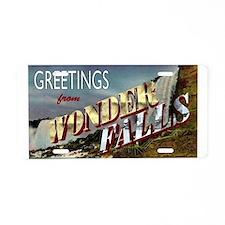 Greetings from Wonderfalls Aluminum License Plate