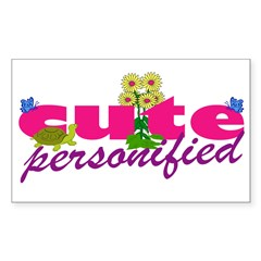 Cute Personified Decal