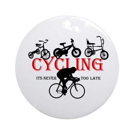 Cycling Cyclists Ornament (Round)