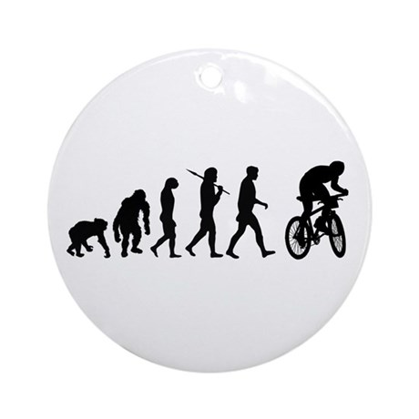 Mountain Bike Evolution Ornament (Round)