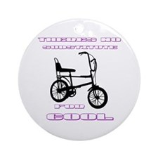 Chopper Bicycle Ornament (Round)