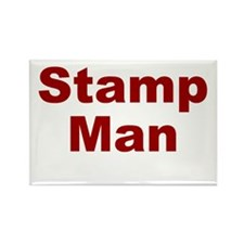 Stamp Man Rectangle Magnet