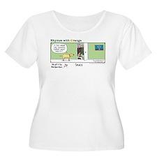 Solace Women's Plus Size Scoop Neck T-Shirt
