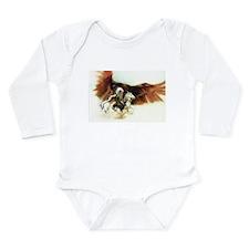 Cute Native american eagle Long Sleeve Infant Bodysuit