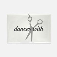 Dances with Scissors Rectangle Magnet