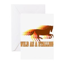 Wild as a Stallion Greeting Cards (Pk of 10)