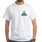 Masonic S&C supporting the pyramid White T-Shirt