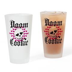 Doom Cookie Hearts Drinking Glass