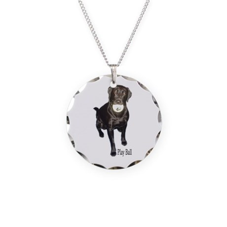 play ball Necklace Circle Charm
