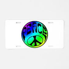 Tye Dye Peace Aluminum License Plate