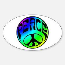 Tye Dye Peace Sticker (Oval)