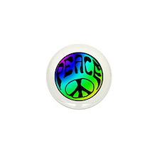 Tye Dye Peace Mini Button (100 pack)
