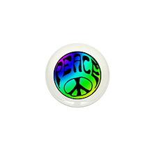 Tye Dye Peace Mini Button