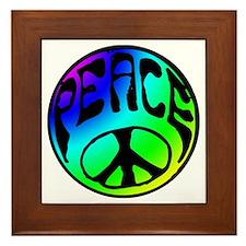 Tye Dye Peace Framed Tile