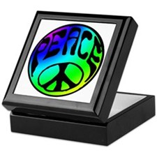 Tye Dye Peace Keepsake Box
