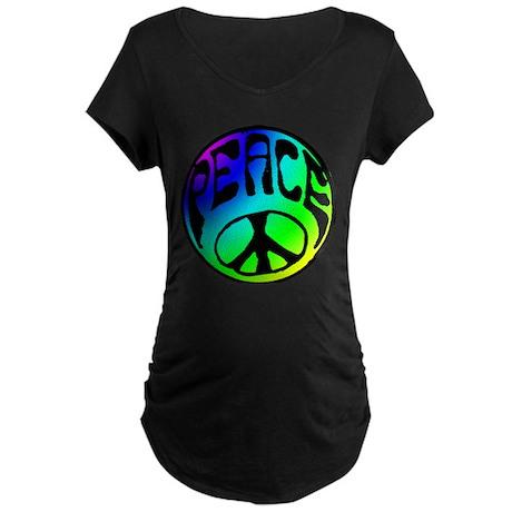 Tye Dye Peace Maternity Dark T-Shirt