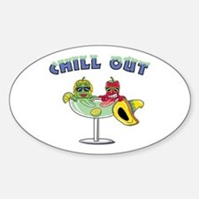 Chill Out Oval Decal