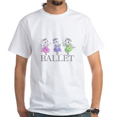 Ballerina Kitty Trio White T-Shirt