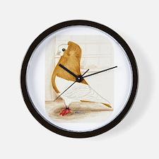 Komorner Pigeon Yellow Wall Clock